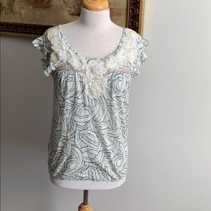 Anthropologie Deletta embroidered top